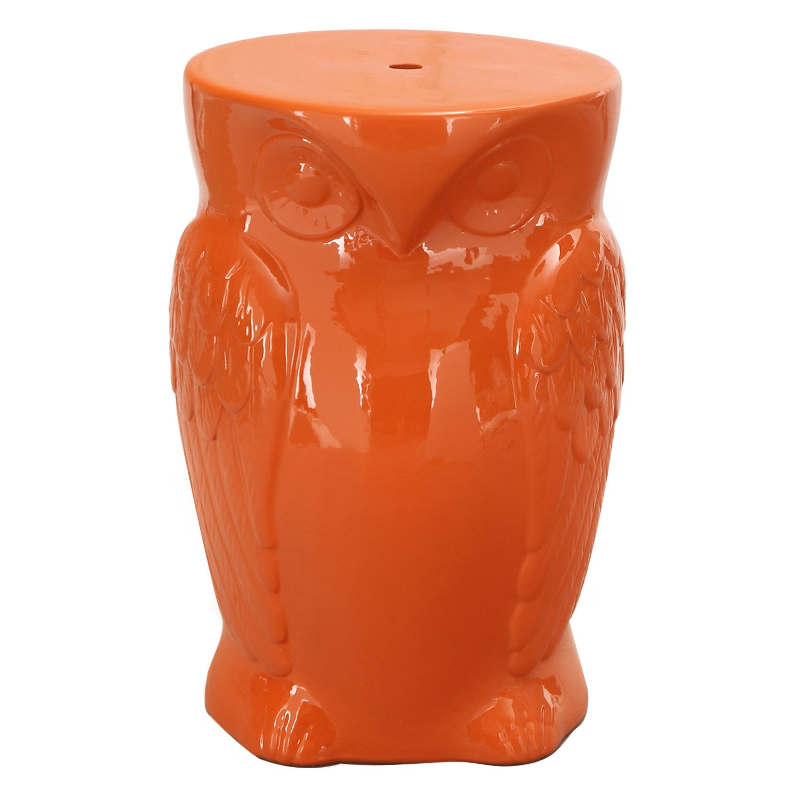 Adeco Trading Wise Old Owl Garden Stool