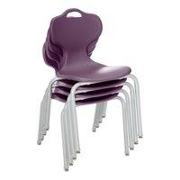 "Profile Series School Chair (18"" H)-Eggplant-Pack of 4"