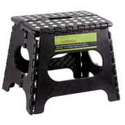 """GreenCo Super Strong Foldable Step Stool for Adults and Kids, 11"""" (Black)"""