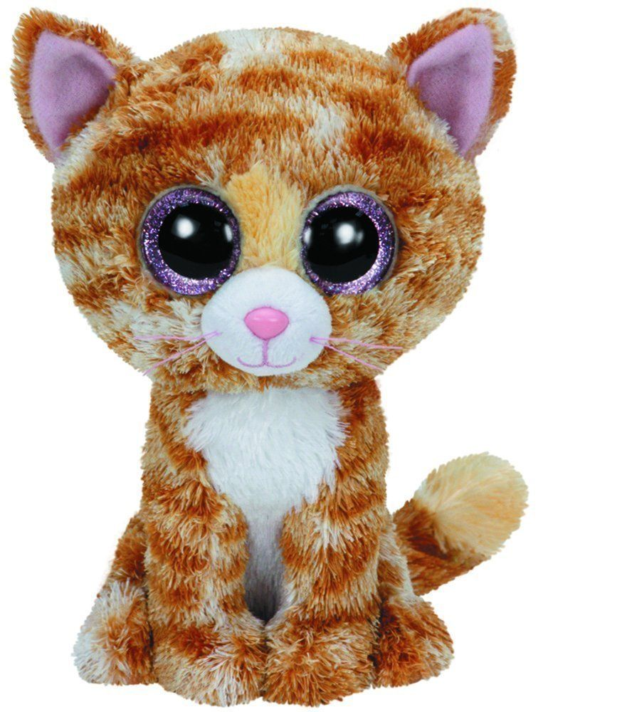 Ty Tabitha The Brown White Cat Kitty Kitten Beanie Boos Stuffed