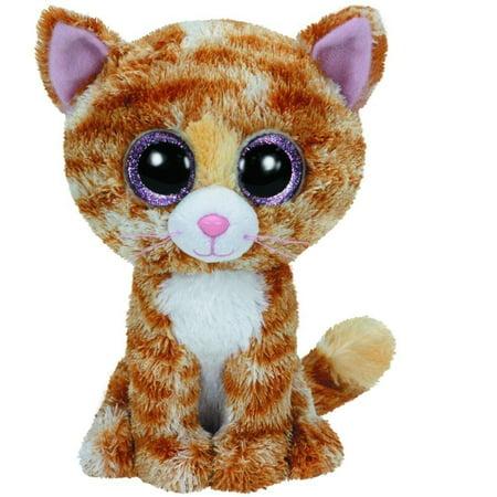 Ty Tabitha The Brown   White Cat Kitty Kitten Beanie Boos Stuffed Plush Toy