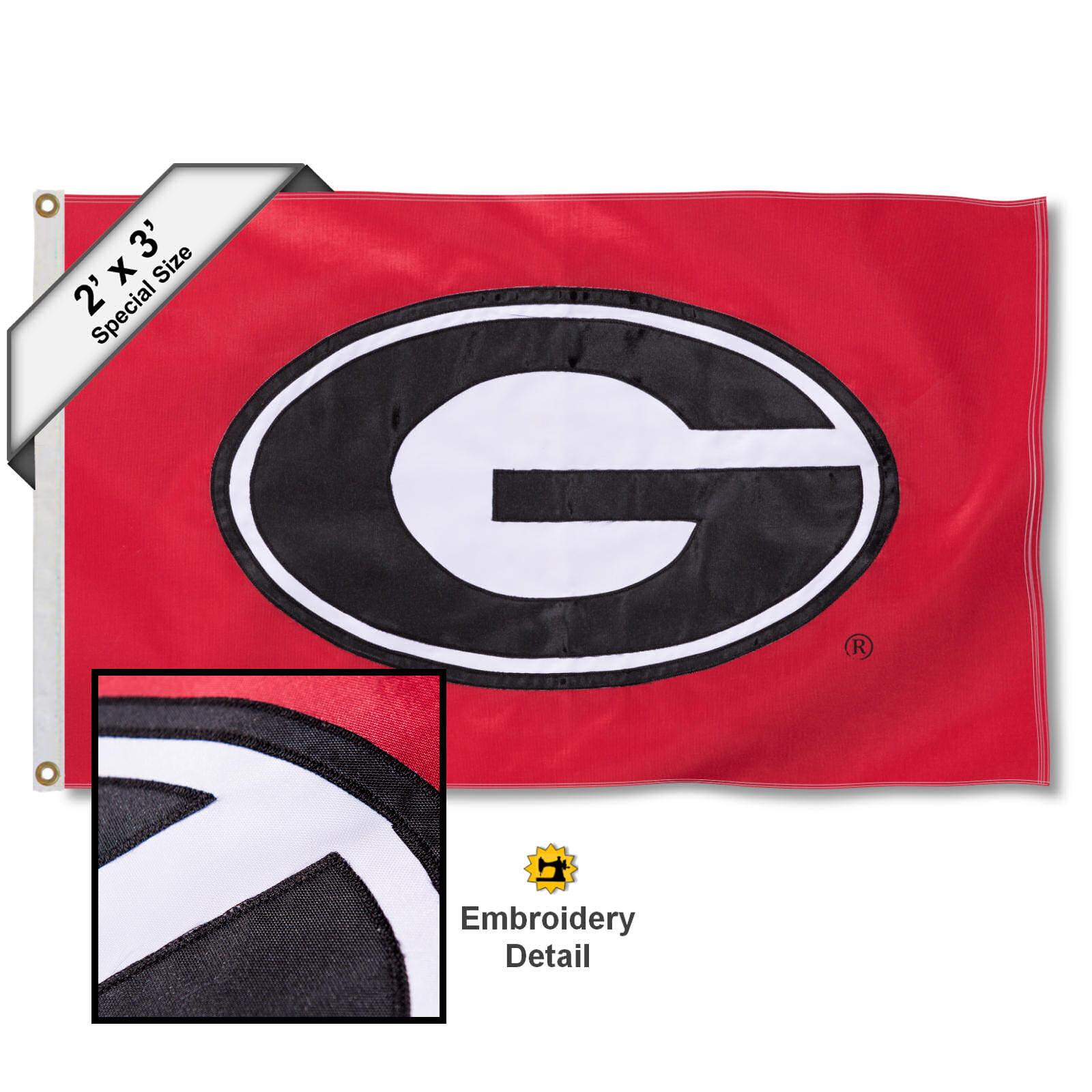 Georgia Bulldogs 2' x 3' Applique Flag