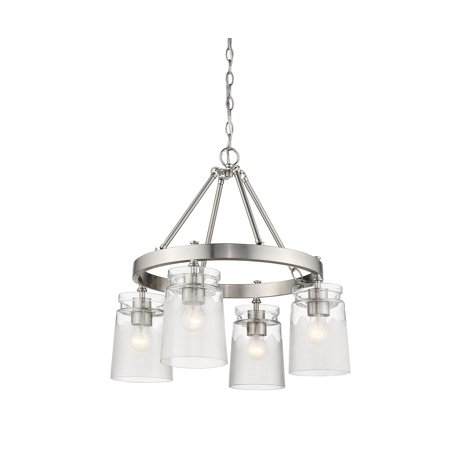 5 Pw Pewter Finish - Travers PW 4-Light Chandelier in Pewter