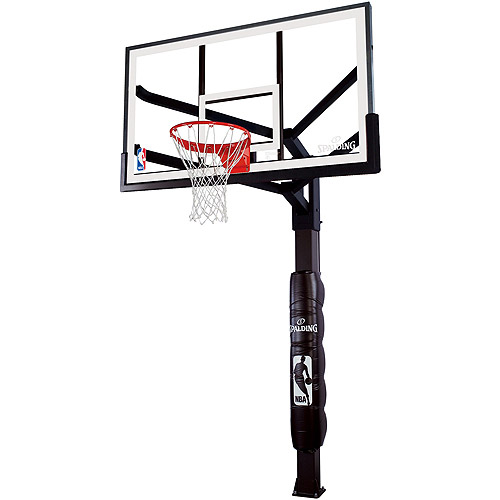 "Spalding 86724HGP Arena View H 72"" Glass In-Ground Basketball System"