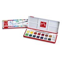 Caran d'Ache, Fancolor Gouache, 15 Colors with Paintbrush