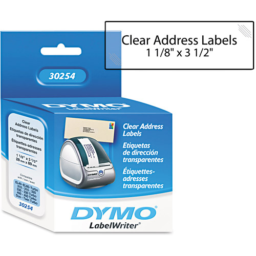 Dymo Clear Address Labels, 130 ct