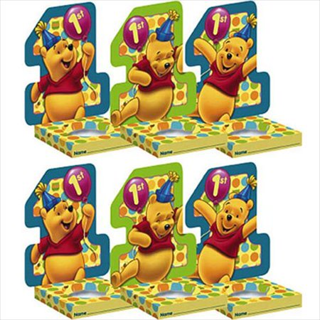 Winnie the Pooh Balloon 1st Birthday Cupcake Holders (6ct)](Winnie The Pooh Mylar Balloons)