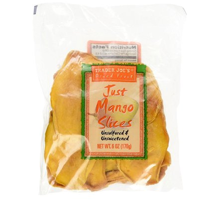 Trader Joe's Just Mango Slices Dried Mango 6 Ounce ( Pack of