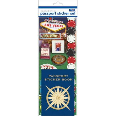 Passport Stickers (Passport Sticker Sets PP59121 Passport or Scrapbooking Sticker Set-Las)