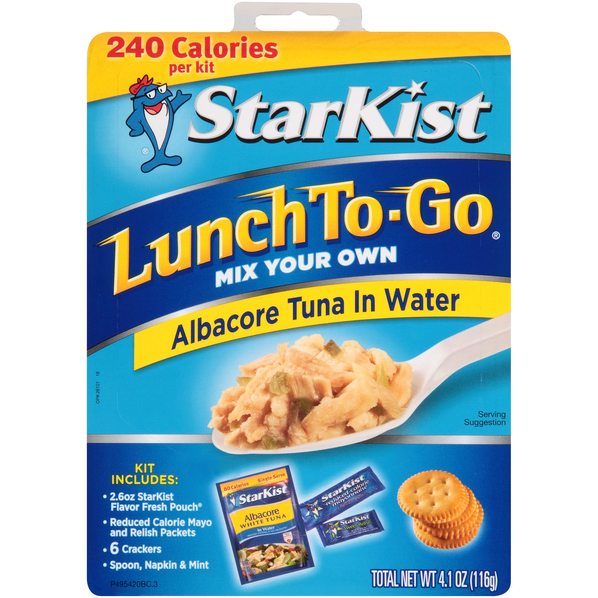 StarKist Lunch To-Go, Albacore Tuna in Water, 4.1 Ounce Box