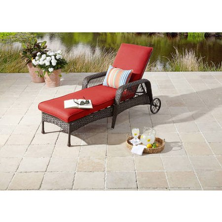 Better homes and gardens colebrook chaise lounge for Better homes and gardens hillcrest outdoor chaise lounge