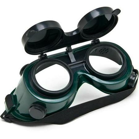Biltek NEW Welders Safety Goggles Welding Cutting Glasses Flip Up Dark Green Lenses (Green Welders Lens)