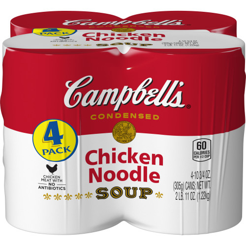 Campbell's Condensed Chicken Noodle Soup, 10.75 oz., 4 pack