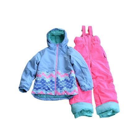 Snow Country Outerwear Little Girls Nova Snowsuit Ski Jacket and Snow Bibs Set S-L Volkl Girls Ski