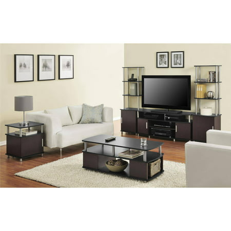 Carson Tv Stand For Tvs Up To 50 Multiple Finishes Black And Cherry Walmart Com Walmart Com