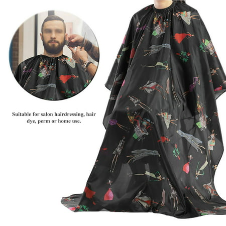 Barber Stripe - WALFRONT  Black with Red Stripes Salon Hair Cut Hairdressing Barbers Hair Cutting Cape For Adult, Hair Cutting Cape, Salon Apron