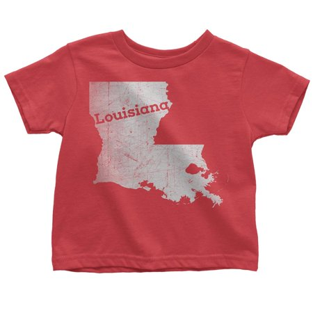 Small / Red Louisiana Kids Tee Home Shirt](Rex Kid)