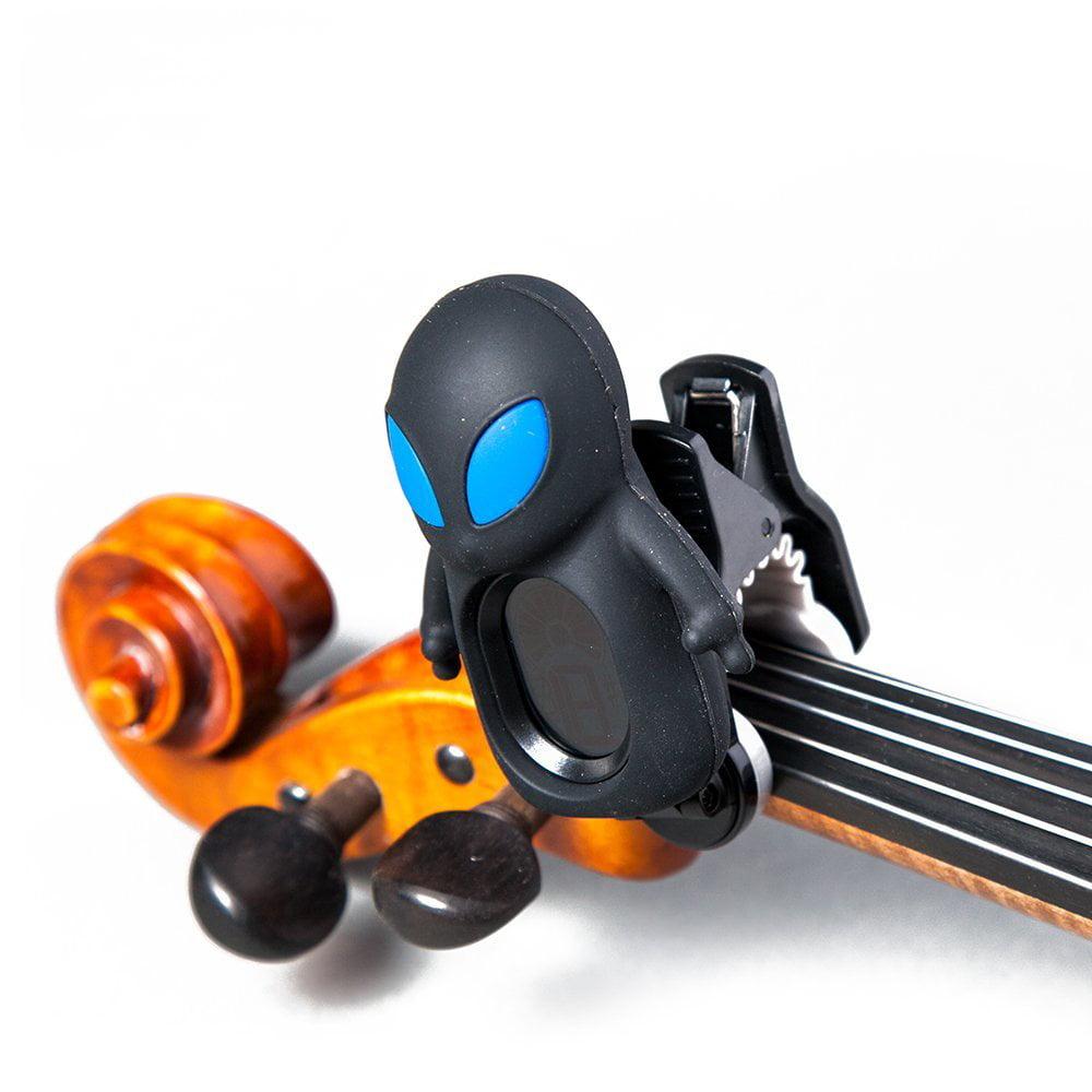 SWIFF Digital Chromatic Guitar Bass Violin Ukulele Carton Tuner w Battery (Black ET)