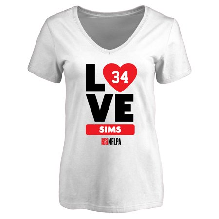 Charles Sims Fanatics Branded Women's I Heart V-Neck T-Shirt -
