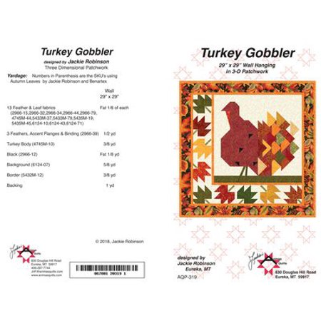 "Pattern~Turkey Gobbler 3D Patchwork Wall Hanging 29"" x 29"" by Animas Quilts"