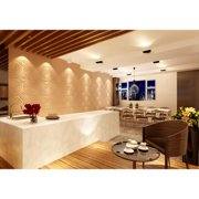 Contempo Living Inc 3D Contemporary Wall Panels Spiral Design (Pack of 10)