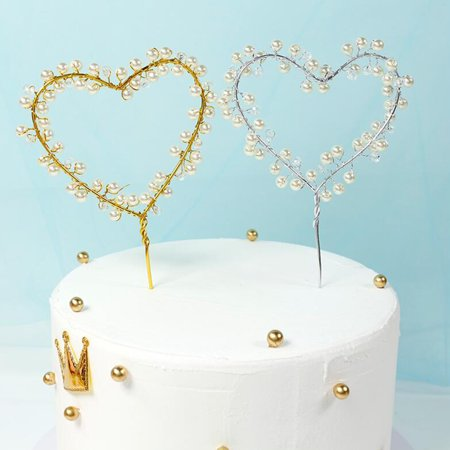 Heart Shape Wire - Loving Heart Shape Iron Wire Cake Topper Decoration