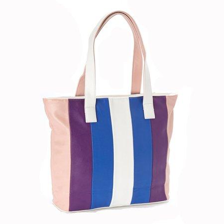 Skooba Design Satchel - Amtal Women Multi Color Stripes Design Hobo Shoulder Top Handle Handbag