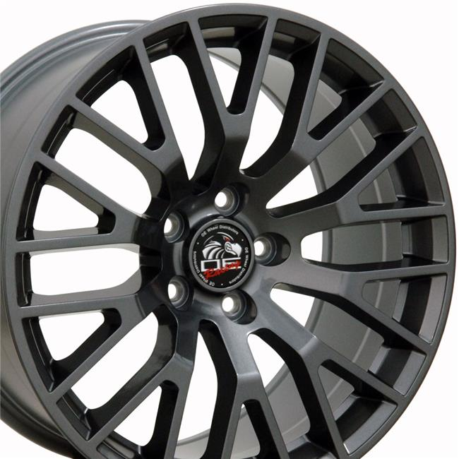 18 x 9 in. Wheel Replica, Gunmetal for Ford 2015 Mustang GT