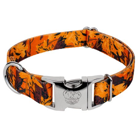 Country Brook Petz® Premium Orange Sunset Camo Dog Collar