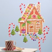Wallies Gingerbread House Vinyl Holiday Wall Decal