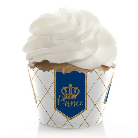 Royal Prince Charming - Baby Shower or Birthday Party Cupcake Wrappers - Set of 12