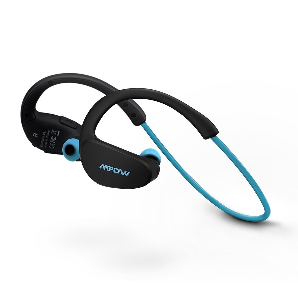 Mpow Cheetah Bluetooth 4.1 Wireless Headphones Stereo Sport Running Gym Exercise Headsets Earphones Hands-free Calling Car Earbuds-Blue