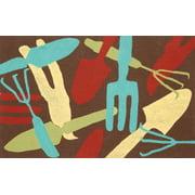 """Liora Manne Visions II Garden Tools Indoor/Outdoor Mat Brown 20""""X29.5"""""""