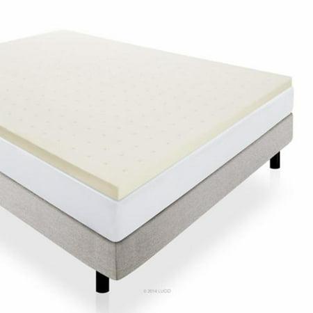 lucid 2 ventilated memory foam mattress topper twin xl. Black Bedroom Furniture Sets. Home Design Ideas