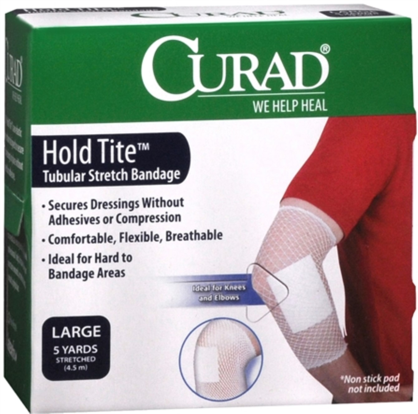 4 Pack - Curad Hold Tite Tubular Stretch Bandage Large 1 Each