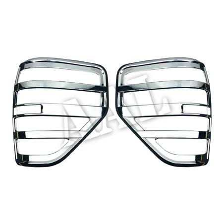 AAL Premium Chrome LIGHTS BEZEL Cover Covers For 2009 2010 2011 2012 2013 2014 FORD F150 F-150 Tail Light Bezel (Flareside Chrome Tail Light Cover)