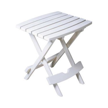 Adams Manufacturing Quik-Fold Side Table - White