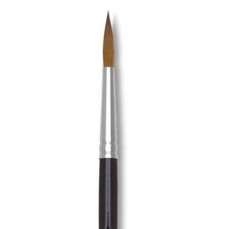 Isabey Pure Kolinsky Sable Brush - Tapered Round, Short Handle, Size 0 - Isabey Isacryl Brush
