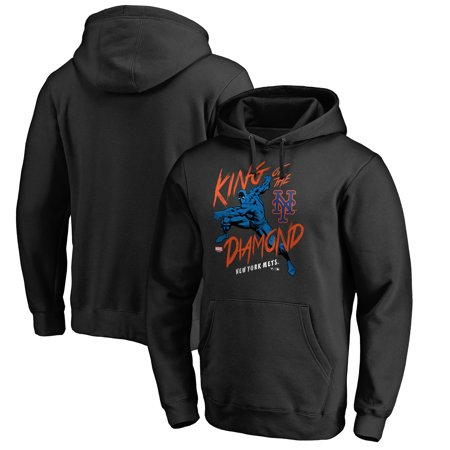 - New York Mets Fanatics Branded MLB Marvel Black Panther King of the Diamond Pullover Hoodie - Black