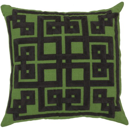 Surya Surya Pillows Area Rugs - LD012 Contemporary Midnight Green/Peridot Lattice Knot Trellis Squares Rug