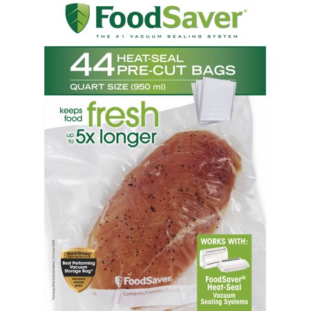 FoodSaver Heat-Seal Pre-Cut Quart-Size Bags