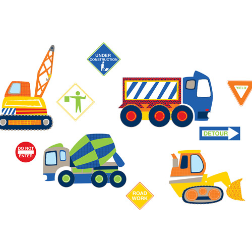 WallPops Construction Zone Decals