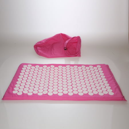 Deluxe Comfort Acupuncture Mat With Carrying Bag Natural
