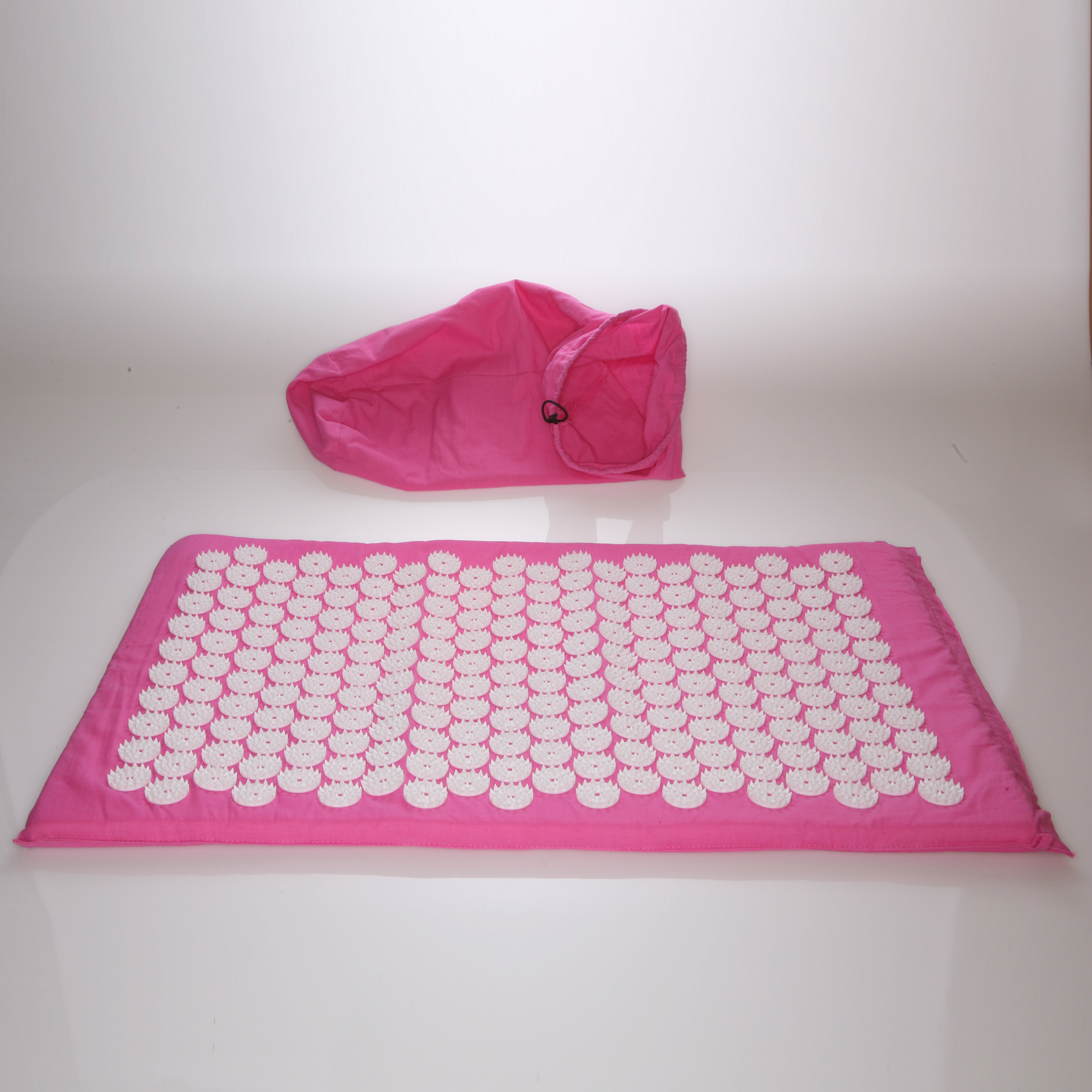 Deluxe Comfort Acupuncture Mat with Carrying Bag – Natural Endorphin Energy Booster – Holistic Therapy – Great Stress Reliever – Mat, Pink