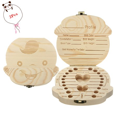 Boss Box (Baby Teeth Storage Box,Ymiko 2Pcs Milk Teeth Wooden Tooth Storage Box For Kids Baby Save 3-6YEARS Creative Gift Boy )