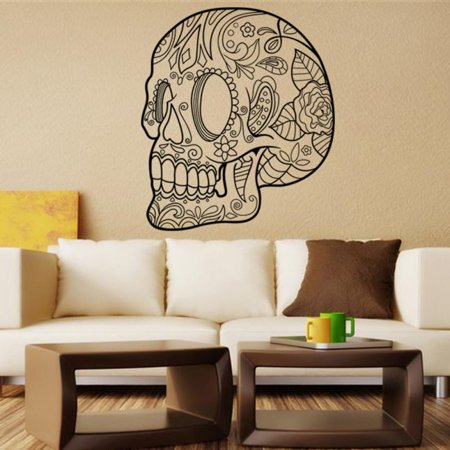 Halloween Skeleton Background Decorated Living Room Bedroom Wall Stickers
