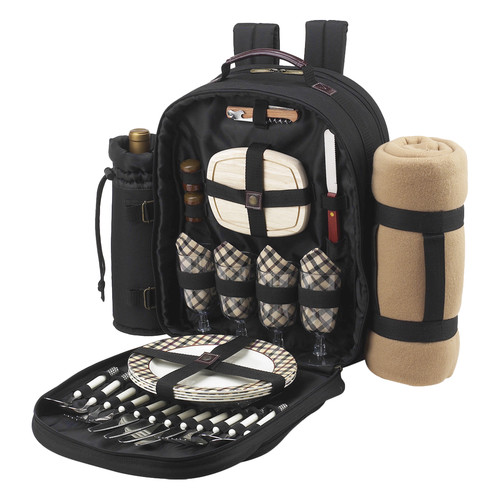 Freeport Park Backpack Cooler & Blanket Set for Four