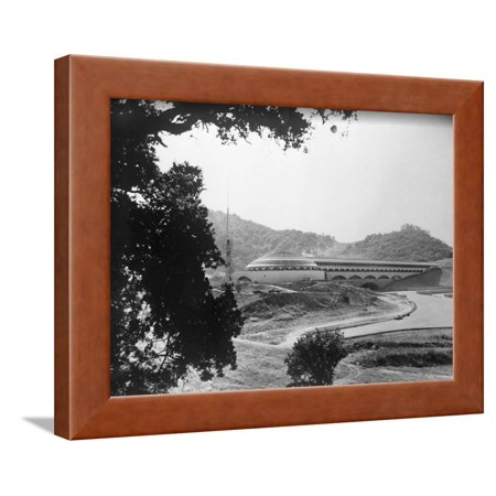 The Marin County Civic Center Created by Frank Lloyd Wright Framed Print Wall (Lloyds Center)