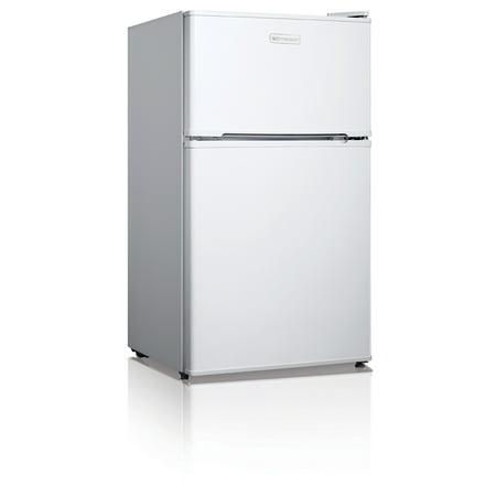 Emerson 3.1 Cu Ft Two Door Mini Fridge with Freezer CR510WE, White