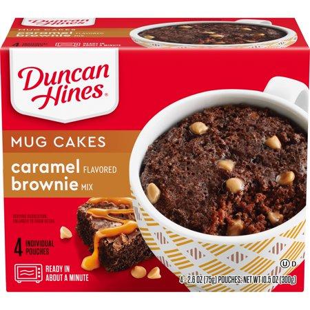 Duncan Hines® Mug Cakes Caramel Brownie Mix 4 ct Box